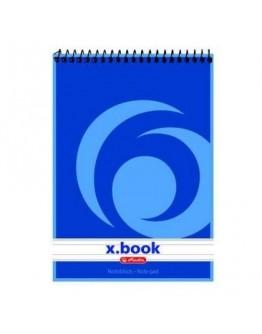 Bloc notes cu spirală A6 50 file, dictando, X.book