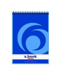 Bloc notes cu spirală A7 50 file, dictando, X.book