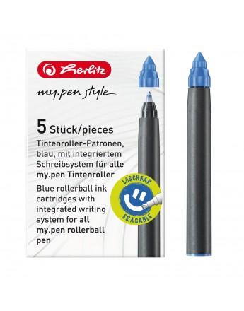 Rezervă roller my.pen cerneală albastră set 5 buc. Herlitz