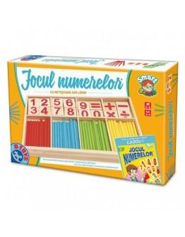 Jocul Numerelor cu piase din lemn - d-Toys