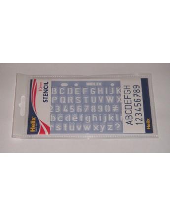 Sablon litere si cifre 10mm Helix