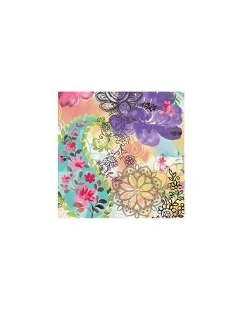 Servetel decorativ Floral Mix Roses