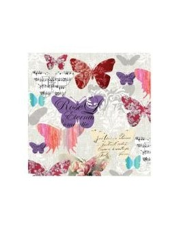 Servetel decorativ Romantic butterflies