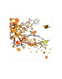 Servetel decorativ Autumn Birds