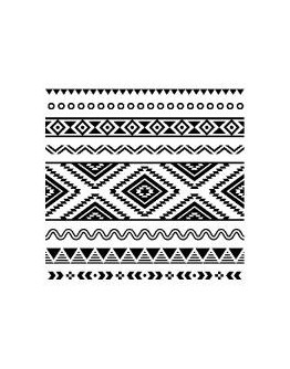 Servetel decorativ White-black Ethnic