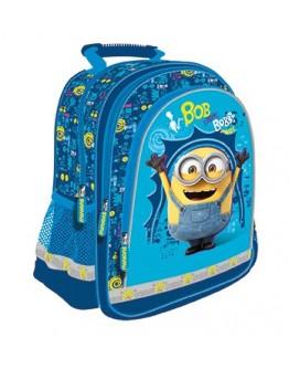 Ghiozdan scoala Blue Bob Minions