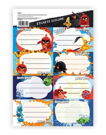 Etichete scolare 40/set Angry Birds