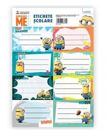 Etichete scolare 40/set Minions