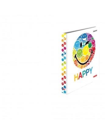 Caiet mecanic A4 ,2 inele Herlitz Smiley World Rainbow