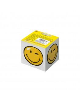 Bloc notite 8*8*7cm, 700 file alb Smiley World