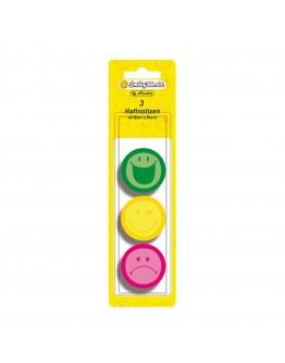 Memo sticker rotund set 3*40file ,3culori Smiley