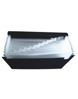 Mapă plastic A4 cu 12 compartimente