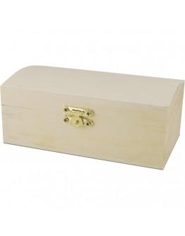 Cutie din lemn 14 * 8 *6 cm , inchidere metalica