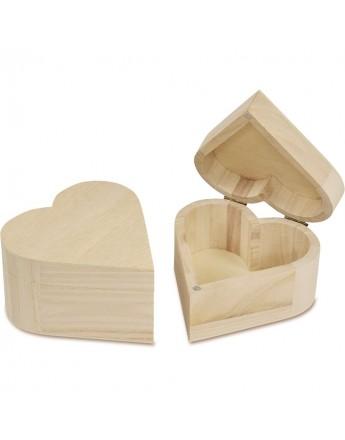 Cutiuta din lemn -Inima - 6*11*10.5 cm