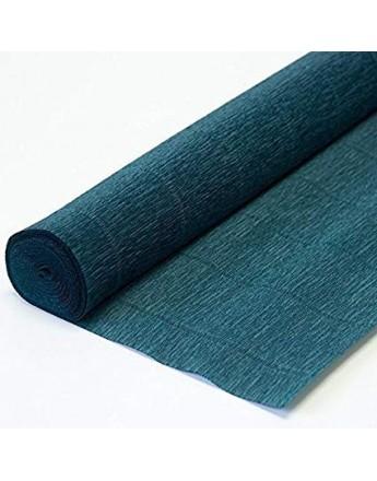 Hartie creponata floristica 180gr. - albastru petrol 560