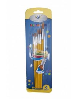 Pensule 6 buc/set varf rotund (Nr. 2, 4, 6, 8, 10, 12)