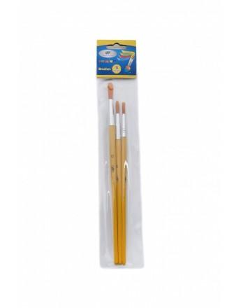 Pensule 3 buc/set varf tesit (Nr. 2, 4, 6)