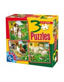 3 PUZZLE- ANIMALE DOMESTICE