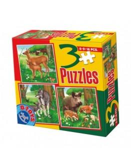 3 PUZZLE- ANIMALE DOMESTICE SI SALBATICE