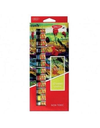 Culori ulei 12 culori Daco