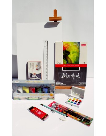 Kit pentru pictura cu culori acrilice A4 v.1