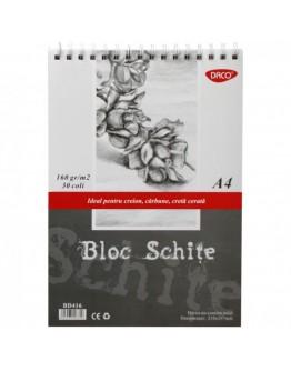 Bloc A6 hartie neagra 140g 30 file DACO