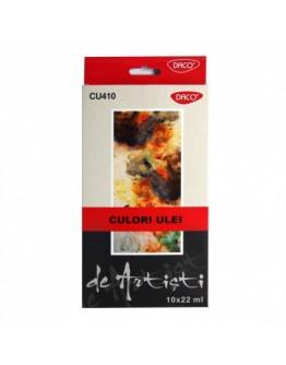 Culori ulei 10 culori 22 ml Artist DACO