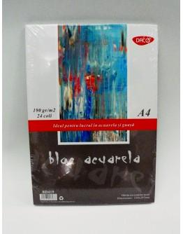 Bloc acuarela 190g 24 file DACO BD319