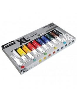 Set 10 culori de ulei XL Oil Studio + 1 pensula Pebeo