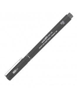 Liner UNI PIN01-200S 0.1mm, pe baza de apa, gri inchis