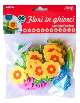 Flori în ghiveci autoadezive