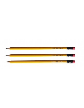 Creion negru cu radieră