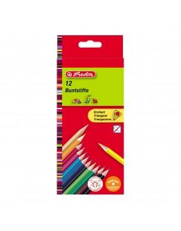 Creioane color triunghiular 12/set Herlitz