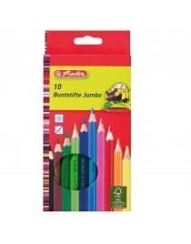 Creioane color JUMBO Herlitz set 10 culori