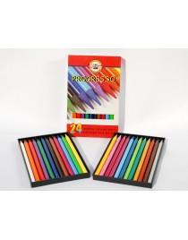 Creioane colorate PROGRESSO, fara lemn, 24 culori/set KOH-I-NOOR
