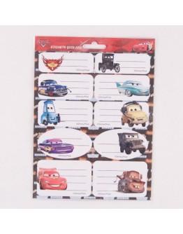 Etichete scolare Cars 20 buc.