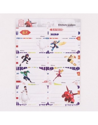 Etichete scolare Big Hero 6