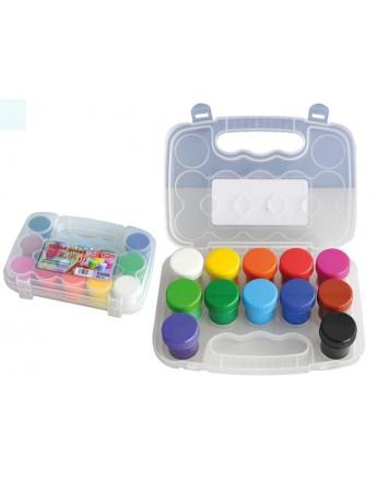Culori guaşă 12 culori Brilia Daco