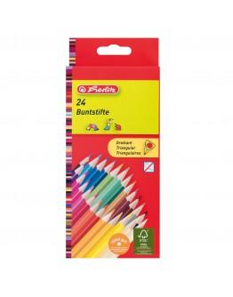 Creioane color triunghiular 24/set Herlitz