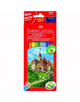 Creioane Colorate Eco Faber-Castell 12/set