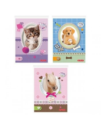 Bloc notes A6 46 file patratele Pretty Pets Herlitz