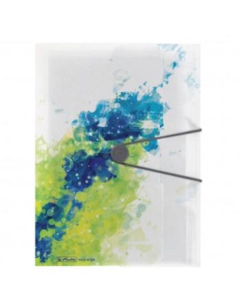 Mapa din plastic A4 inchidere buton cu elastic HERLITZ Color Splash Lemon
