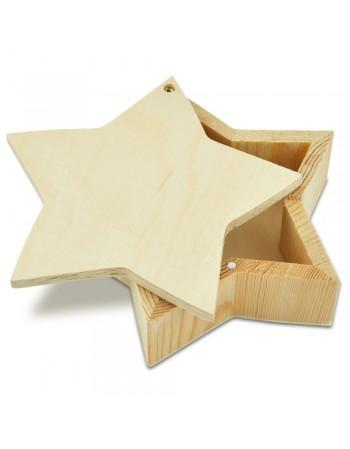Cutie din lemn STEA 4.4*13.7 cm