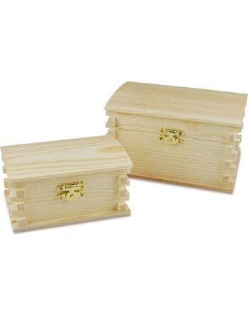 Cutie din lemn masiv - 2 buc/set