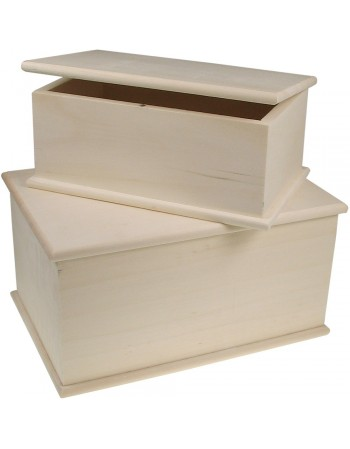 Set 2 cutii lemn cu inchidere magnetica