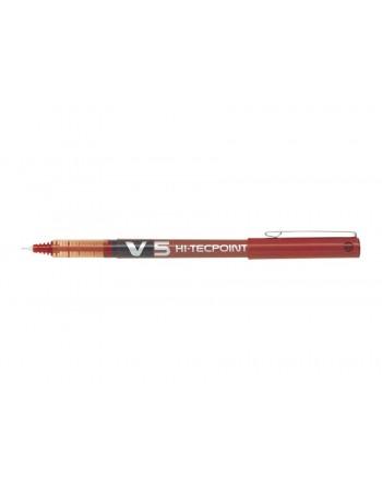 Roller cerneală lichidă PILOT Hi-Tecpoint V5 Reîncărcabil - Negru