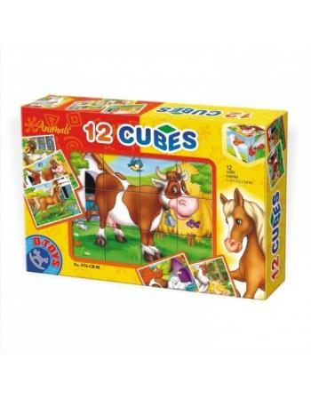 CUBURI 12 PIESE ANIMALE