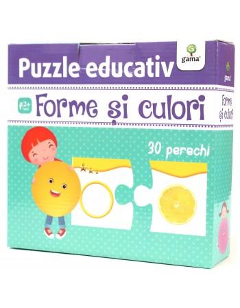 PUZZLE EDUCATIV -Forme și culori