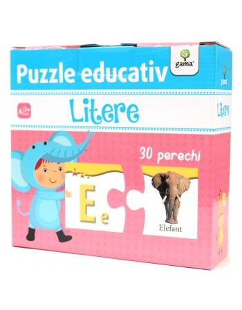 PUZZLE EDUCATIV  -Litere