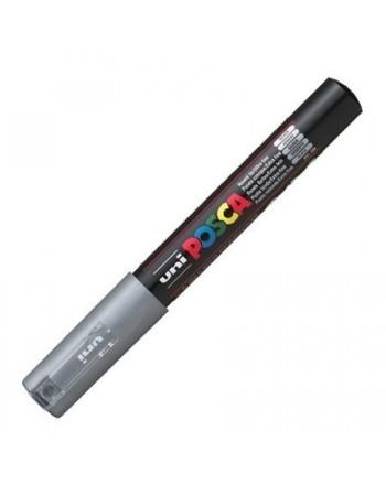 Marker UNI PC-1M Posca 0,7 mm argintiu